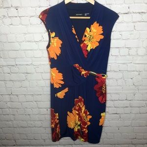 Ellen Tracy Blue Floral Dress